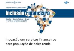 Inovação em serviços financeiros