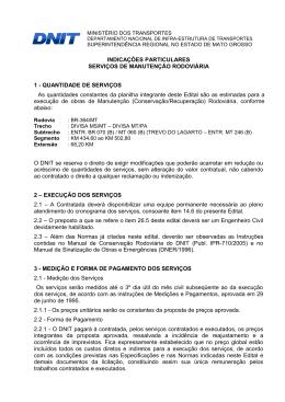Indicações Particulares Serviços de Manutenção Rodoviária