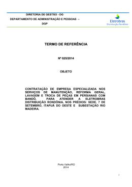 Termo de Referência - Eletrobras Distribuição Rondônia