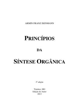 PRINCÍPIOS SÍNTESE ORGÂNICA - CEFET