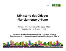 Ministério das Cidades Planejamento Urbano