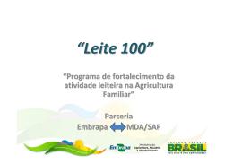 Programa Leite 100 - Ministério da Agricultura
