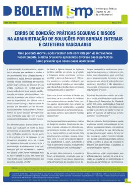 erros de conexão - Boletim ISMP Brasil