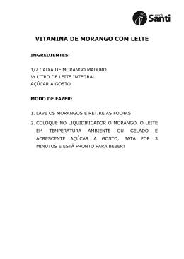 VITAMINA DE MORANGO COM LEITE