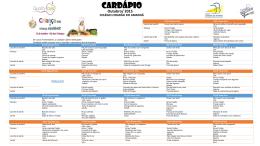 CARDÁPIO Outubro 2015 – refeitório