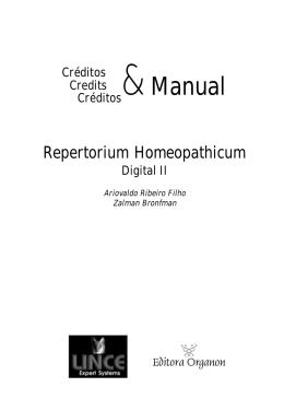 Repertorium Homeopathicum Digital II