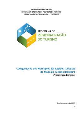 Perguntas e Respostas - Mapa do Turismo Brasileiro