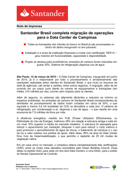 Santander Brasil completa migração de operações para o Data