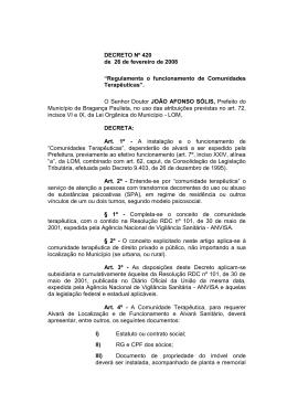 CONSELHO MUNICIPAL DE SEGURANÇA PÚBLICA