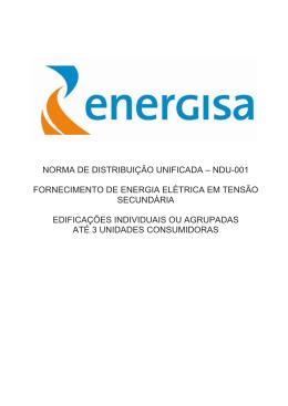 ndu-001 fornecimento de energia elétrica em tensão