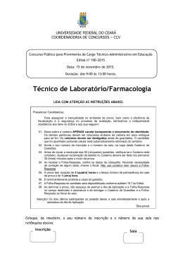 Prova - CCV - Universidade Federal do Ceará