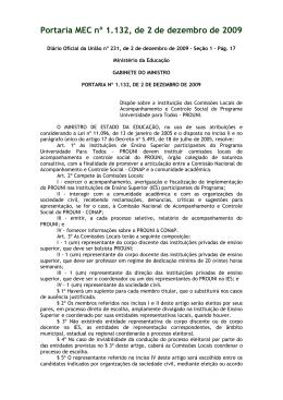 Portaria MEC nº 1.132, de 2 de dezembro de 2009