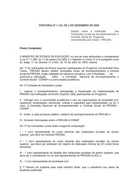 PORTARIA Nº 1.132, DE 2 DE DEZEMBRO DE 2009