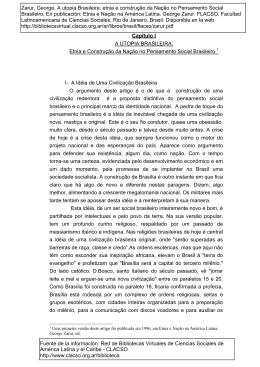 Etnia e Construção da Nação no Pensamento Social Brasileiro 1 I