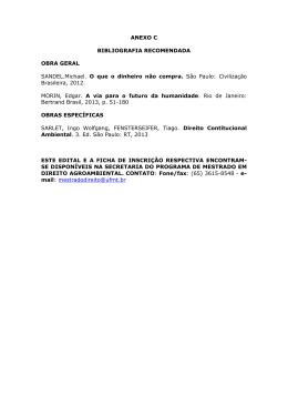 ANEXO C BIBLIOGRAFIA RECOMENDADA OBRA GERAL