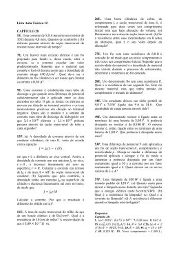 Lista Aula Teórica 12 CAPÍTULO 28 1E. Uma corrente