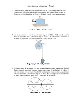 Exercícios de Mecânica - Área 3