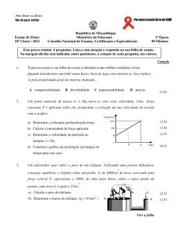 República de Moçambique Exame de Física Ministério da Educação
