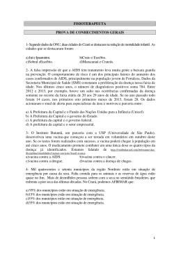 FISIOTERAPEUTA PROVA DE CONHECIMENTOS GERAIS 1