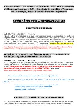 ACÓRDÃOS TCU e DESPACHOS MP