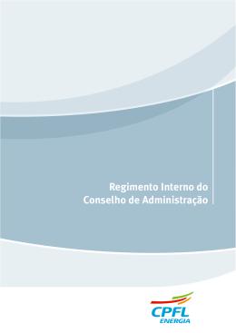 Regimento Interno do Conselho Administração