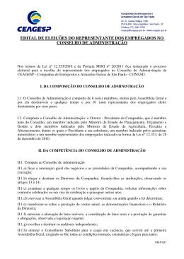 edital de eleições do representante dos empregados no