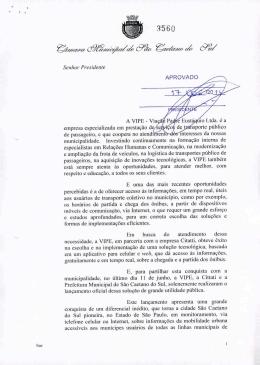 Votos de Congratulações – Câmara Municipal de São Caetano do Sul