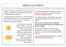 DIPÓLO ELÉTRICO