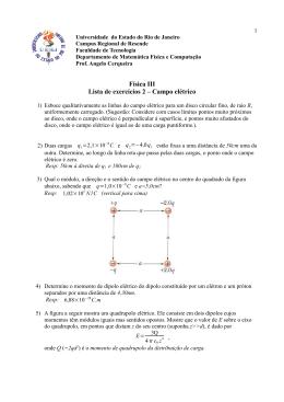 Lista 2 - Física III