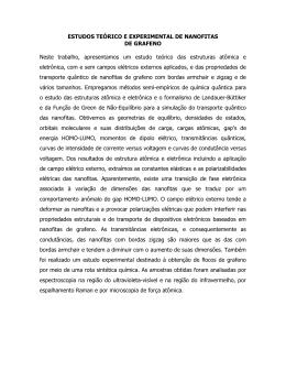 ESTUDOS TEÓRICO E EXPERIMENTAL DE NANOFITAS