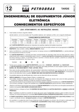 ENGENHEIRO DE EQUIPAMENTOS JÚNIOR