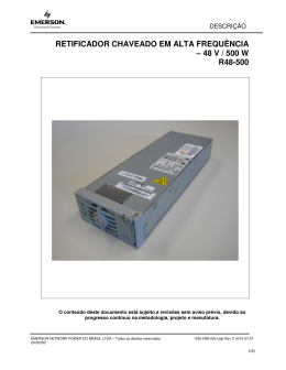 48 v / 500 w r48-500 - Emerson Network Power