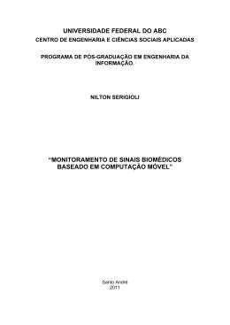monitoramento de sinais biomédicos baseado em computação móvel