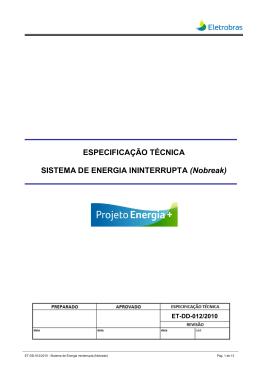 GRUPO GERADOR DIESEL - Eletrobras Distribuição Rondônia