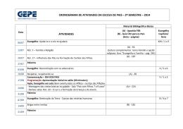 cronograma de atividades da escola de pais – 2º semestre – 2014