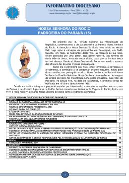 INFORMATIVO DIOCESANO - Diocese São José dos Pinhais