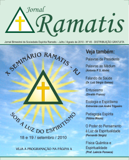 Edição 45 - Sociedade Espírita Ramatis