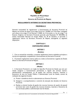 Carregue aqui para obter o ficheiro - Portal do Governo da Província