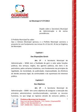 Lei Municipal nº 577/2013