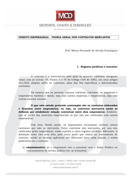 DIREITO EMPRESARIAL - TEORIA GERAL DOS CONTRATOS