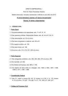 DIREITO EMPRESARIAL I Prof. Dr. Flávio Fernandes Teixeira