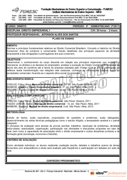 Direito Empresarial I - Prof. Jeferson - 2011