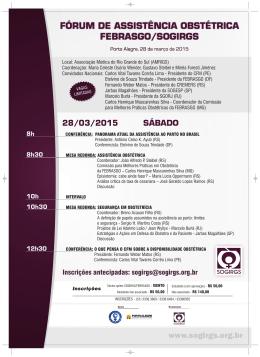 FÓRUM DE ASSISTÊNCIA OBSTÉTRICA FEBRASGO/SOGIRGS