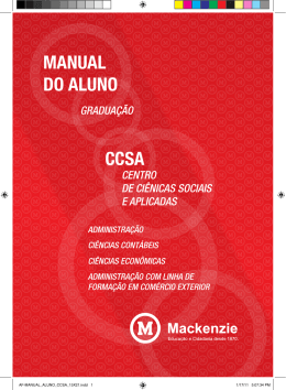 MANUAL DO ALUNO CCSA