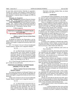 01/04/2004 - Proposta Inicial encaminhada pela Câmara.