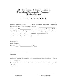 UEL – Pró-Reitoria de Recursos Humanos Diretoria de