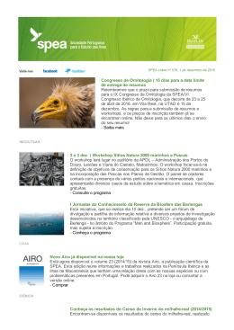 Congresso de Ornitologia | 15 dias para a data limite de