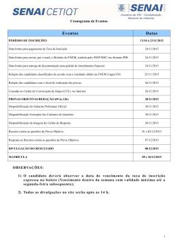 Cronograma - Concursos BioRio