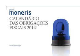 Calendário Fiscal Moneris 2014