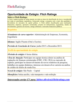 Fitch Ratings Sobre a Fitch Ratings